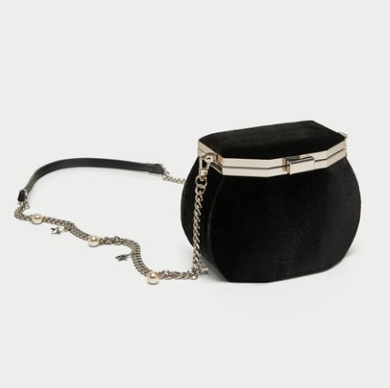 CROSSBODY BAG WITH CLASP AND CHARM STRAP $29.99