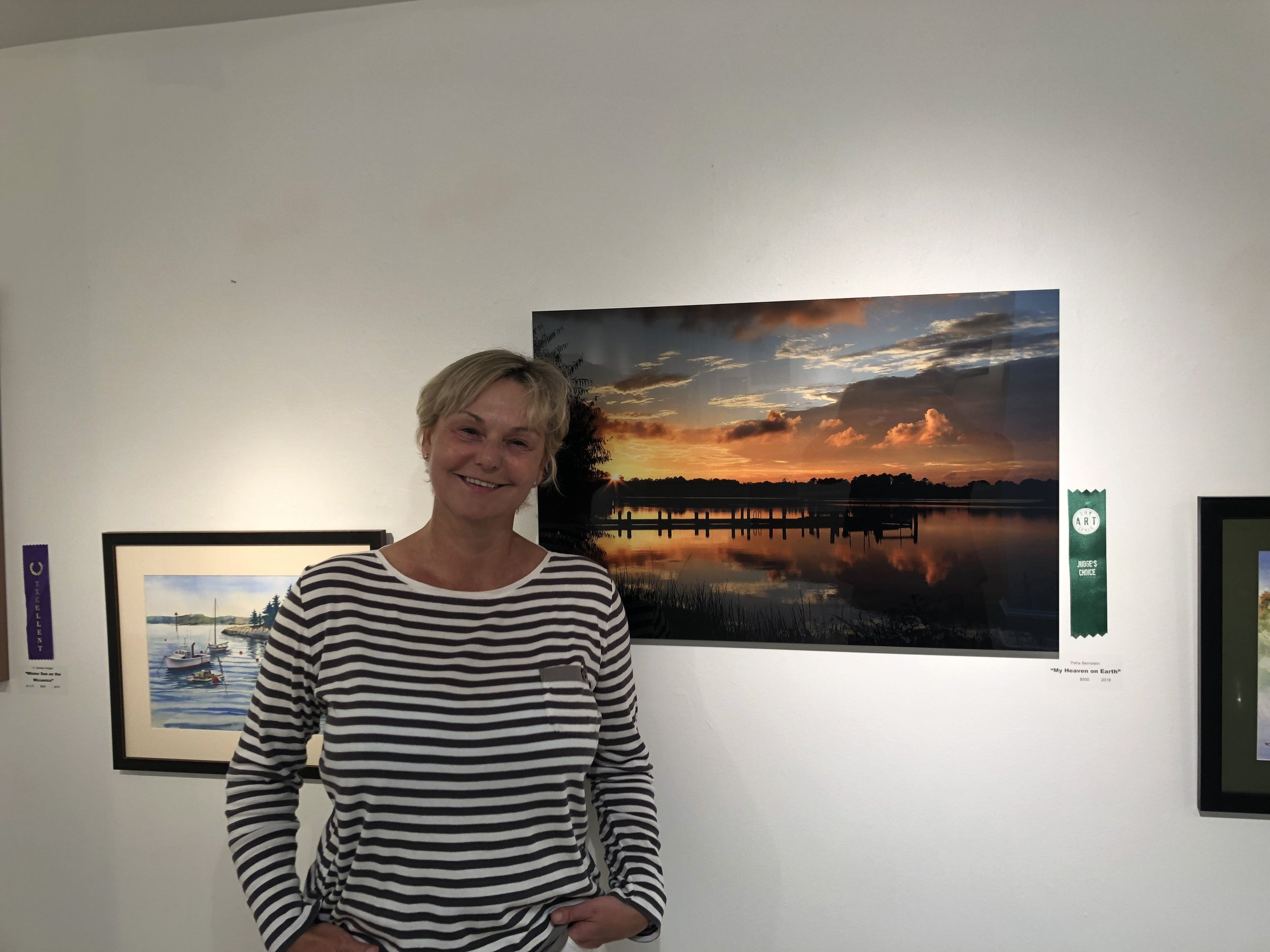 """Judge's Choice Award for """"My Heaven on Earth"""" at the SAS (Rivers and Oceans Exhibition) July/August in Salisbury, MD"""