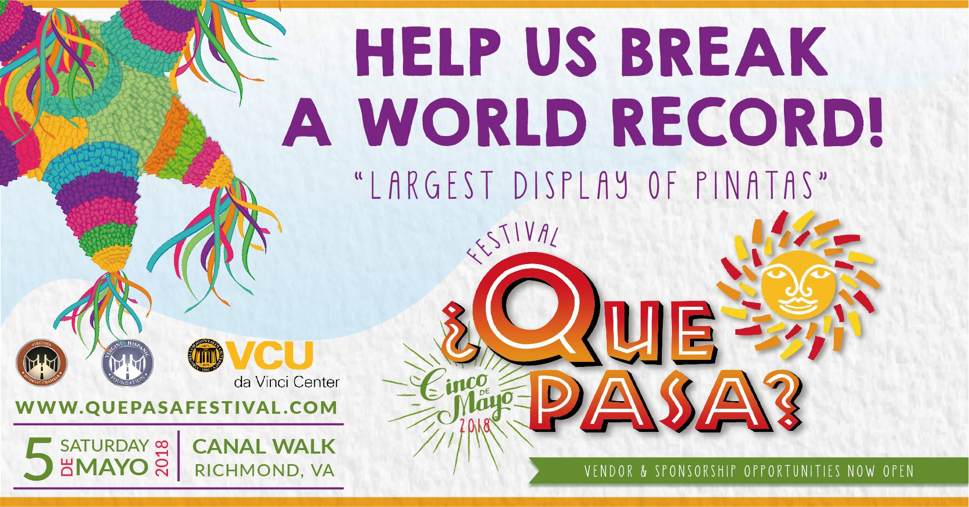 ¿Qué Pasa? Festival - May 2020 (TBD)Canal Walk, Downtown RVA