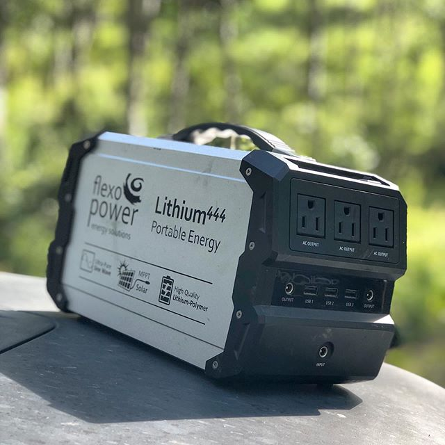Our @flexopower_solar Lithium 444 is keeping our kids electronics charged overnight and fridge powered while we are in camp! Indefinite power when paired with a 100w solar panel! #rockymountainoverlandrally #flexopower_solar