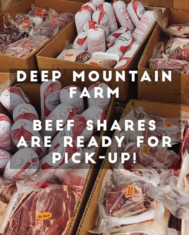It's true! Beef shares are back from the butcher and looking delicious! If you paid for share please pick it up today!  Are you interested in purchasing a whole, half or quarter of a cow for 2020? Hop on our waiting list by visiting our website. Thanks for buying local! #realfood #localfood #wvbeef #grassfedbeef #deepmountainfarm