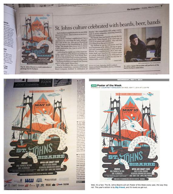 The Oregonian, Willamette Week, The Portland Mercury