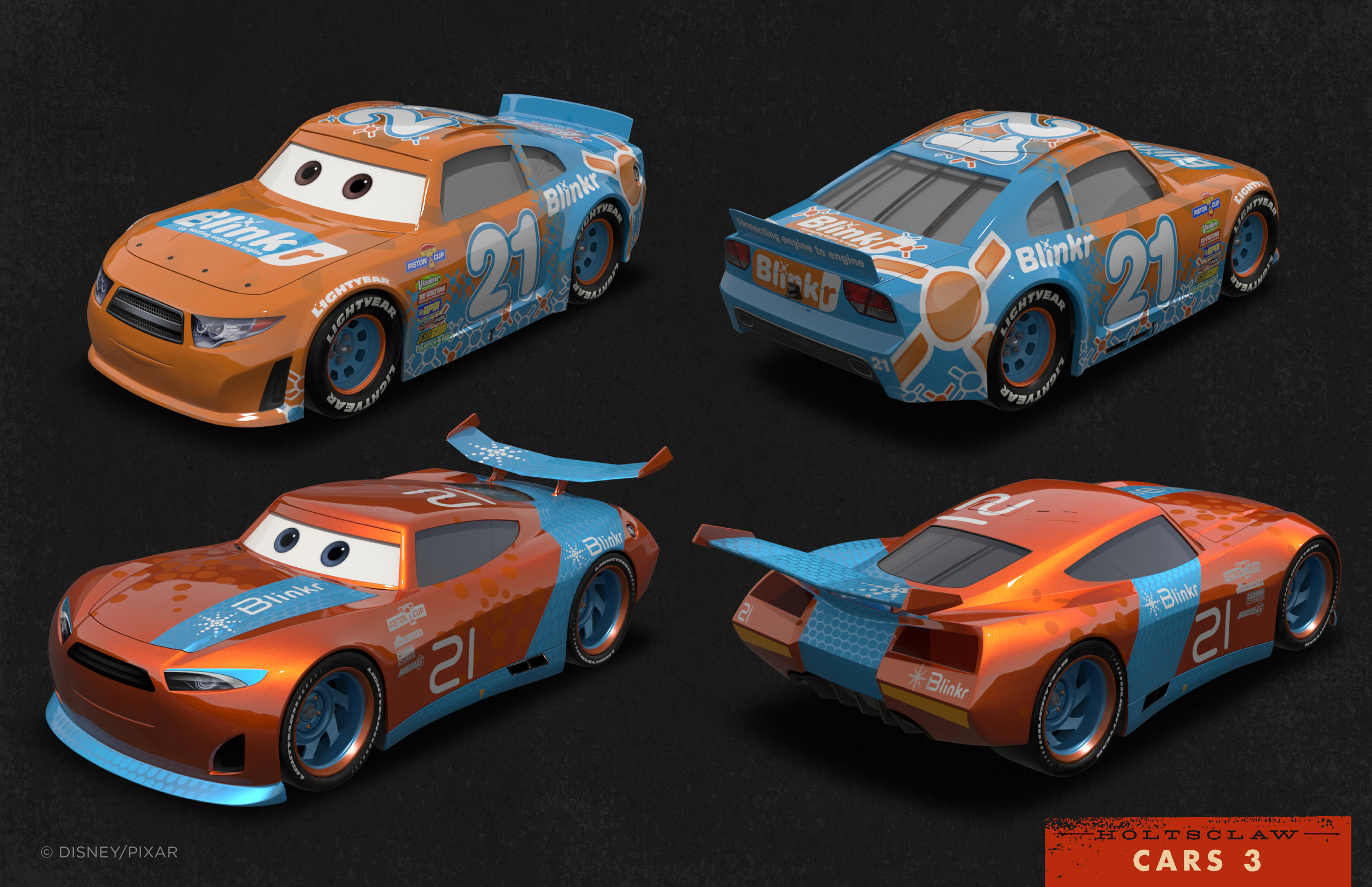 The Graphic Art of Cars 3 — Josh Holtsclaw