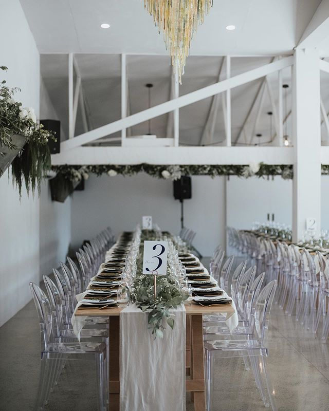 Sometimes we get to take a step back from planning and just style the heck out of a wedding! This one for Kelsi & William was the perfect touch of modern sophistication!  Photo by @coraleestone  Venue @blackwalnutvenue  Florals @rosieswildflowerco