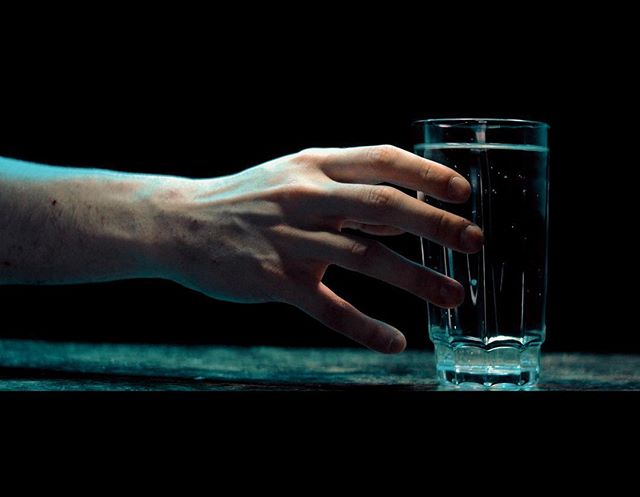 This glass of water looks tasty. . . . #film #filmmaking #yeg #yegfilm #cinematography #backlighting #water #hands #dark #moody #photography #movies #moviemaking