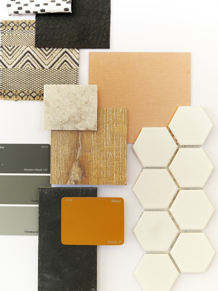 MATERIALS ANDFINISHES SELECTIONS - Carefully considered selections of materials, colours and finishes, can result in a cohesive, unique and individual interior.Melissa can assist by providing a full selection of colours that incorporates the client's tastes, environment and architecture of the space.