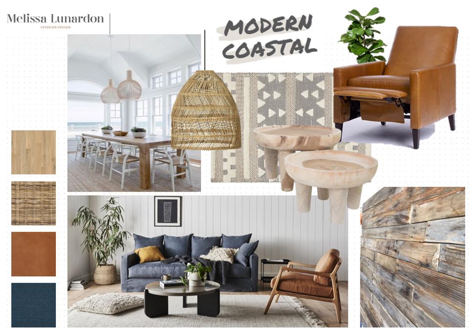 Modern Coastal Mood Board