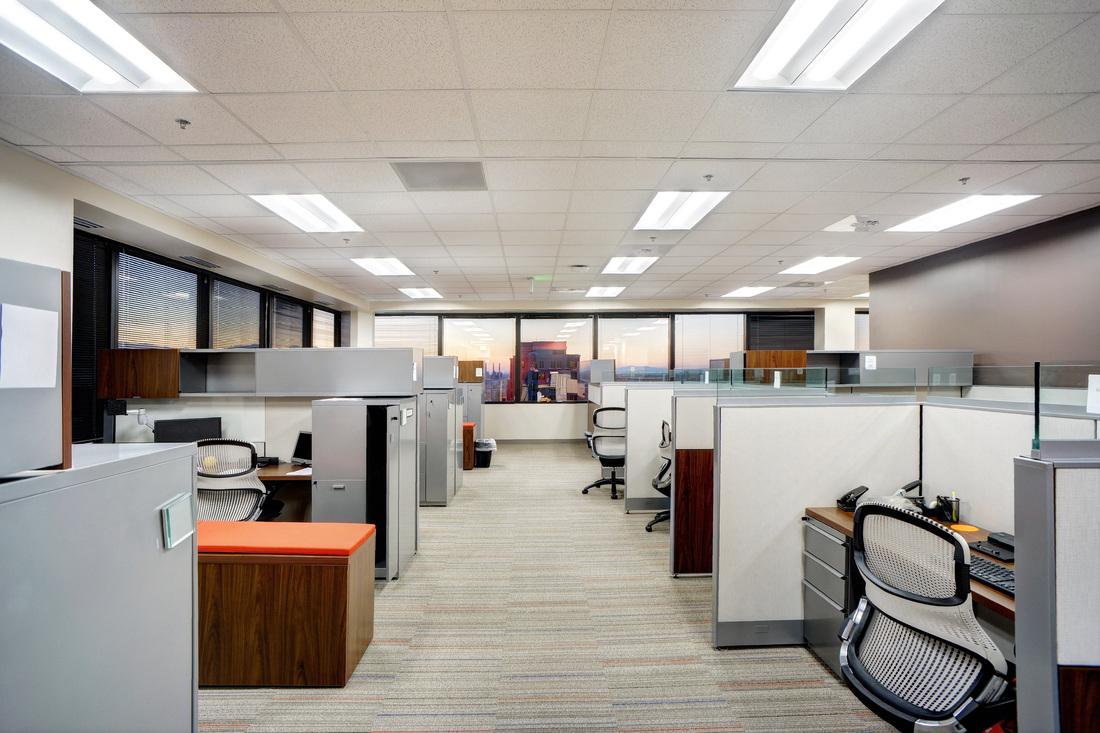 Eide Bailly cubicles in Salt Lake City, Utah.