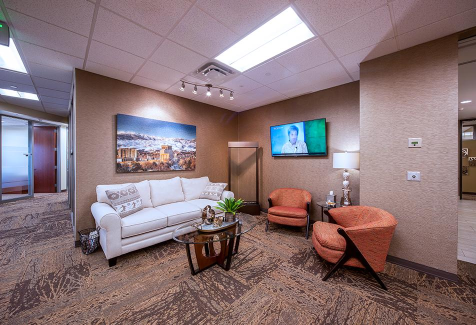 Lounge area at the Boise, ID office.
