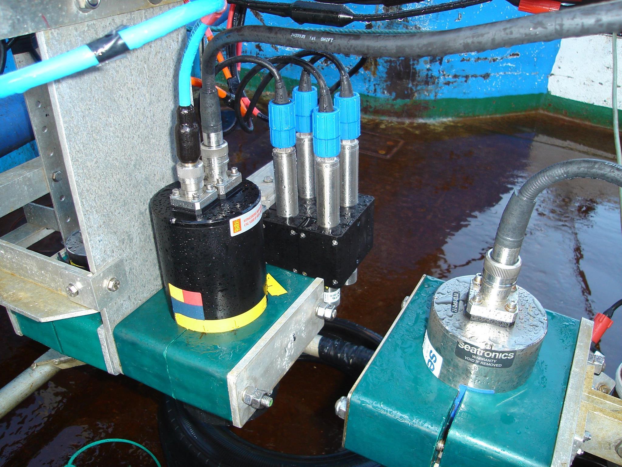 Savante Subsea Lumeneye Laser mounted aboard a benthic habitat mapping drop camera ROV