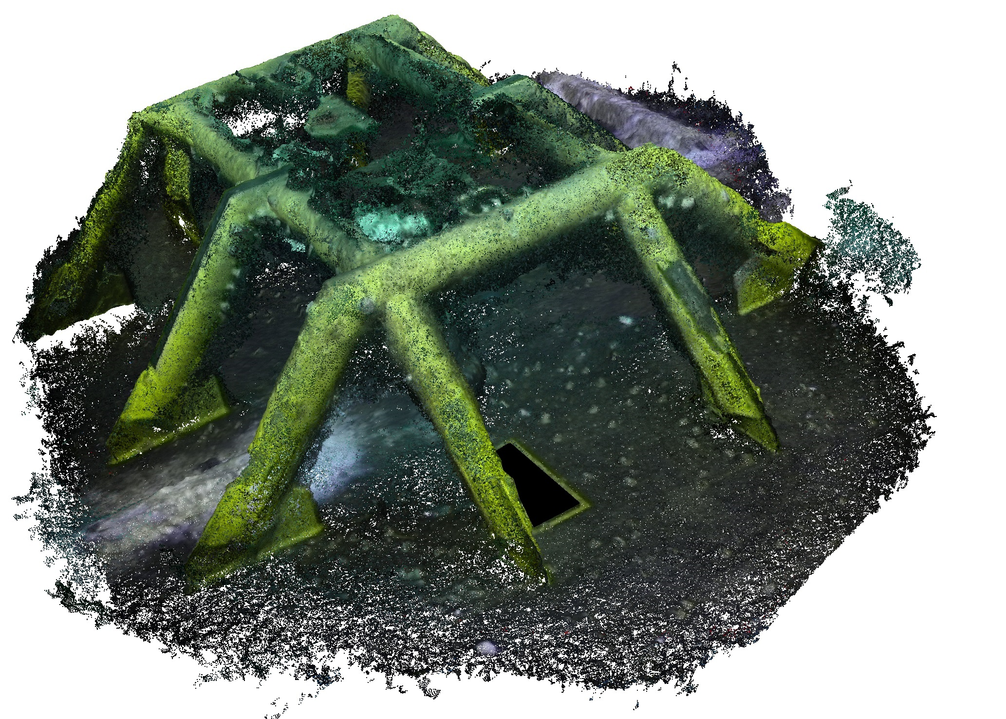 Full colour 3D structure reconstruction from legacy video footage