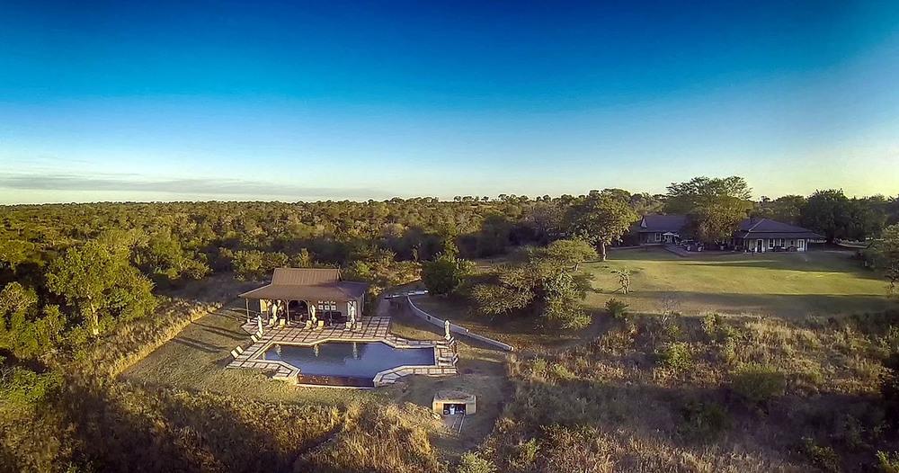 Vue du ciel Kirkman's Camp