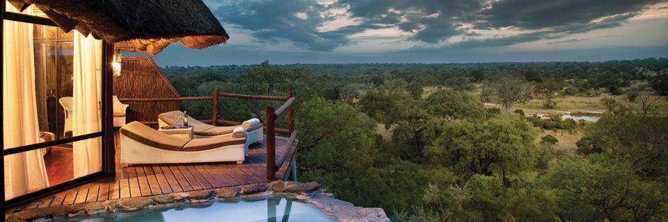 Vue panoramique de la Terrasse Leopard Hills