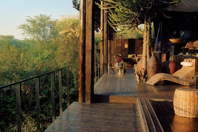 Terrasse Singita Lebombo & Singita Sweni