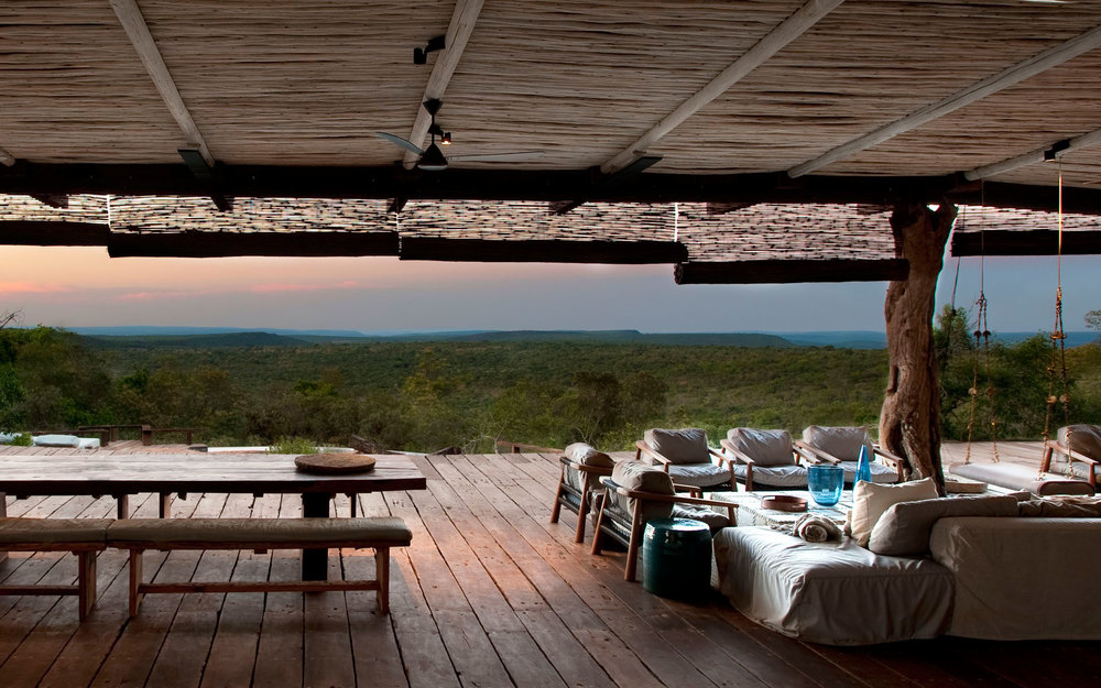 Vie panoramique de la Terrasse Leobo Private Reserve