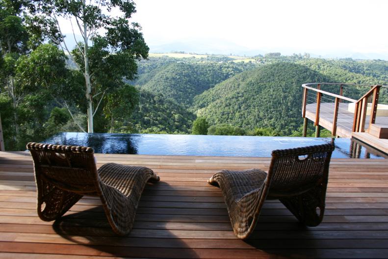 Terrasse avec Piscine Tamodi Lodge