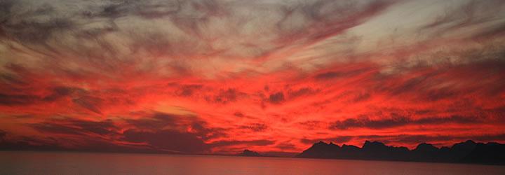 Extraordinaire coucher de soleil De Kelders Private Retreat