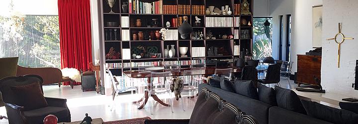 Salon - Bibliothèque De Kelders Private Retreat