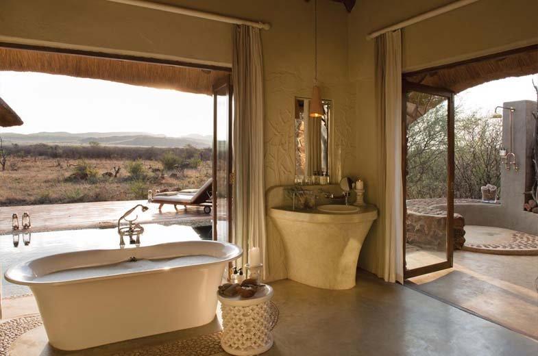 Salle de bain intérieure Madikwe Hills