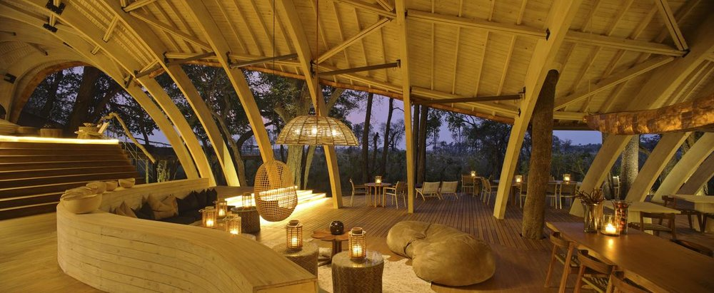 Salon de nuit Sandibe Safari Lodge