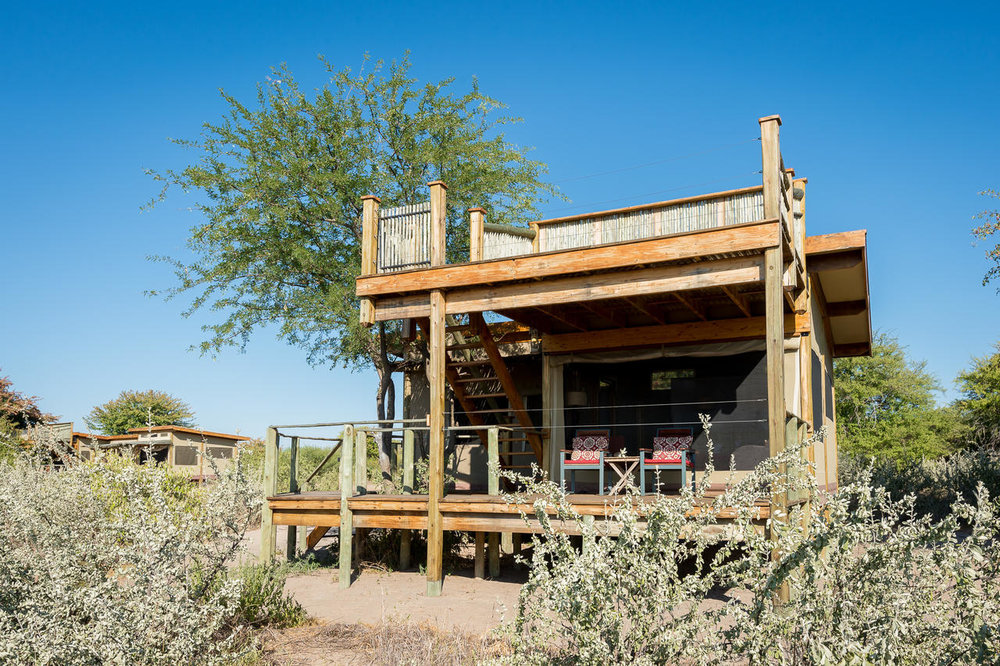 Vue chambre Kalahari Plains Camp