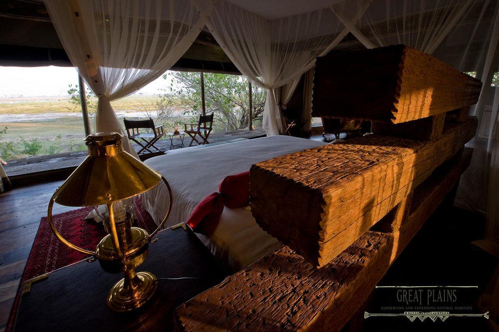 Vue du lit Zarafa Camp