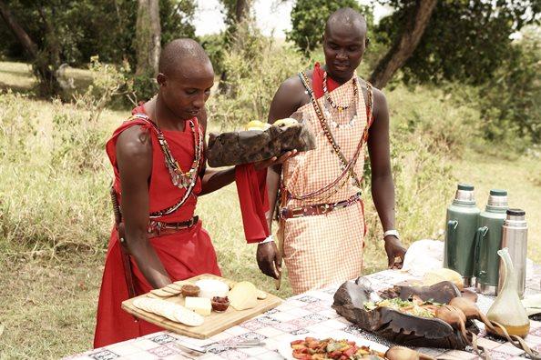 Déjeuner avec Maasai Rekero Mara Camp
