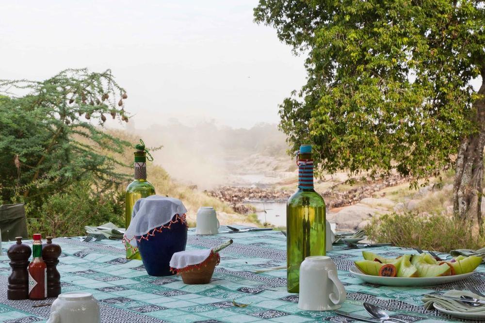 Rafraîchissement dans plaine Rekero Mara Camp