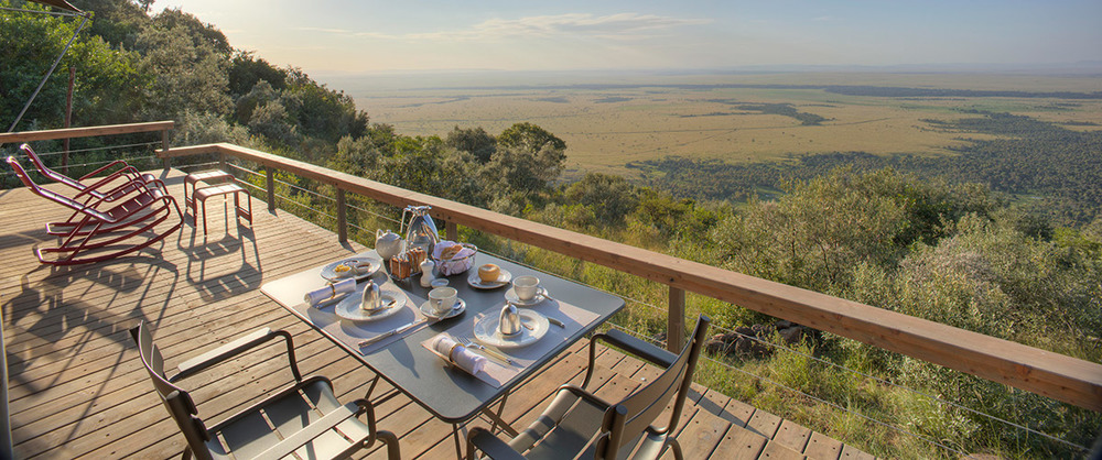 Vue de la Terrasse Angama Mara
