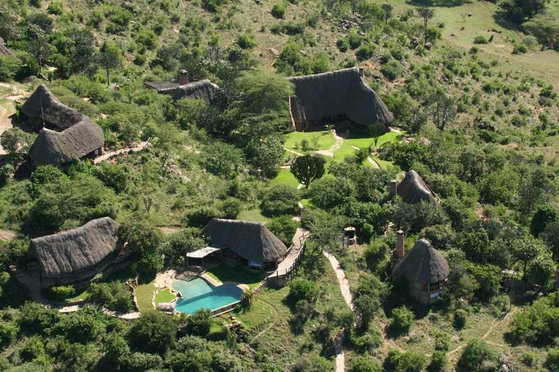 Vue Borana Lodge du ciel