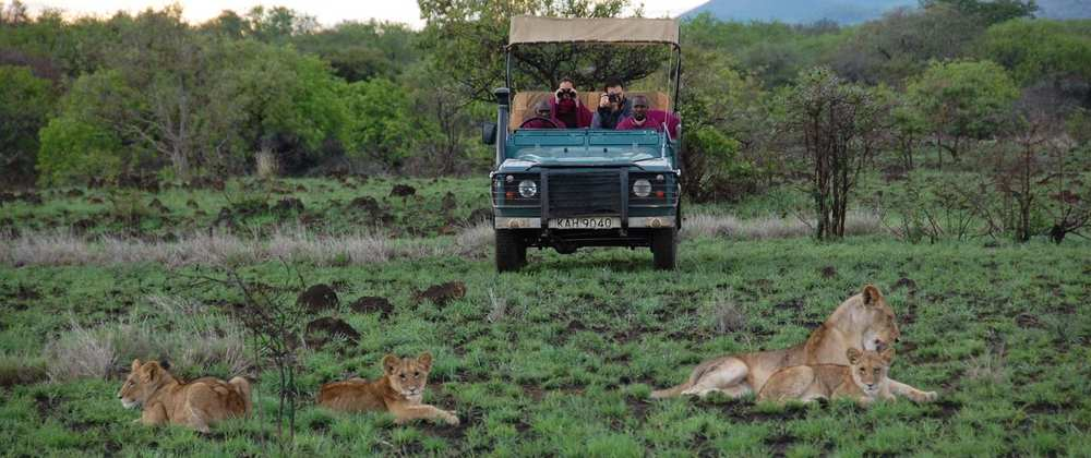 4X4 en safari Campi ya Kanzi