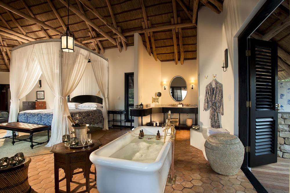 Chambre avec salle de bain Benguerra Lodge