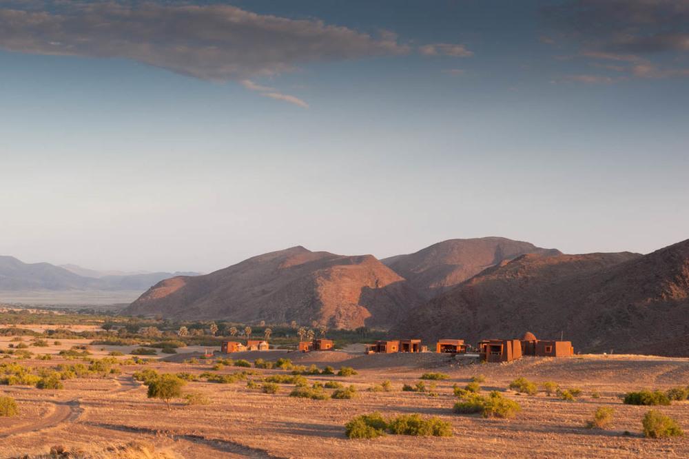 Vue du camp du ciel Okahirongo Elephant Lodge