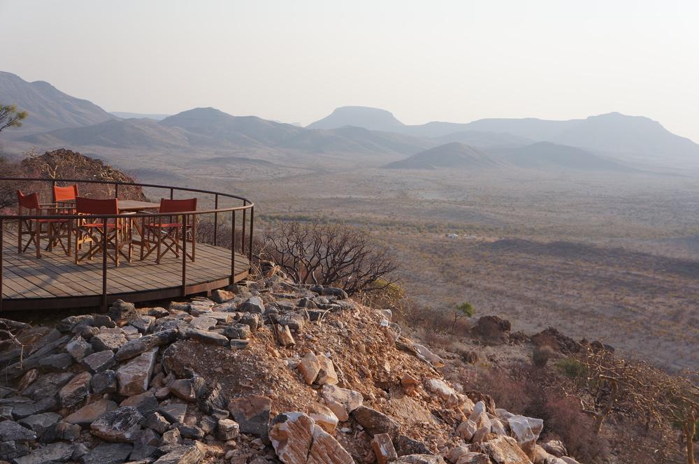 Vue panoramique du lodge Etambura