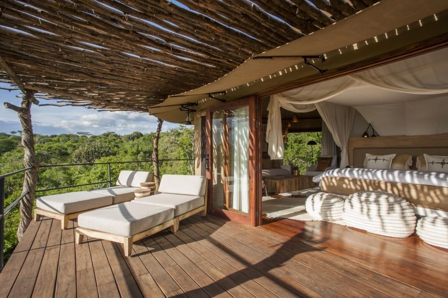 Terrasse d'une chambre Mwiba Lodge