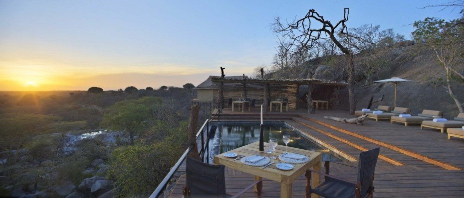 Vue panoramique de la Terrasse Mwiba Lodge