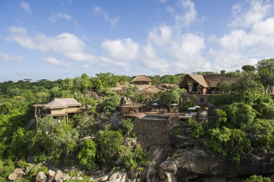 Vue de l'extérieure Mwiba Lodge