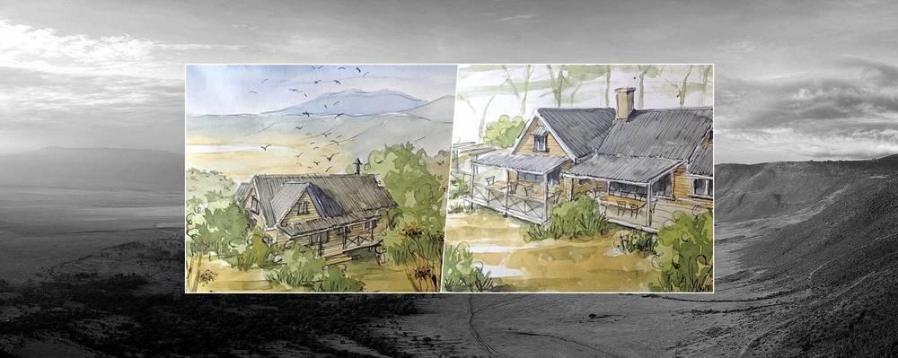 Esquisse Entamanu Ngorongoro Lodge