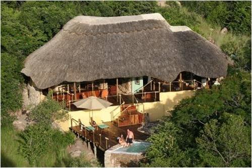 Vue du Lodge du Ciel Lupita Island