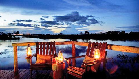 Sundowner sur terrasse Lagoon Camp