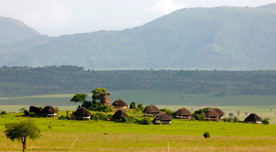 Vue panoramique Apoka Safari Lodge