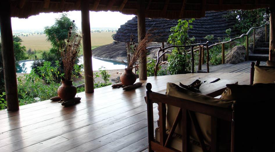 Vue de la terrasse Apoka Safari Lodge