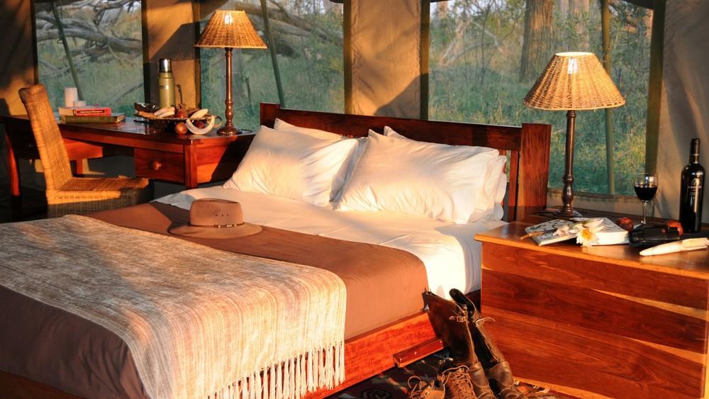 Safari à cheval au Botswana - chambre du Macatoo camp