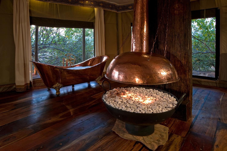 Safari Déserts et Plaines Africaines - Salle de bain à Zarafa