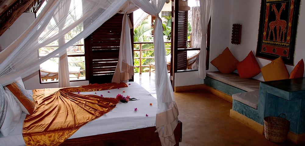 Safari le Masai Mara et Zanzibar - chambre au Sunshine hotel