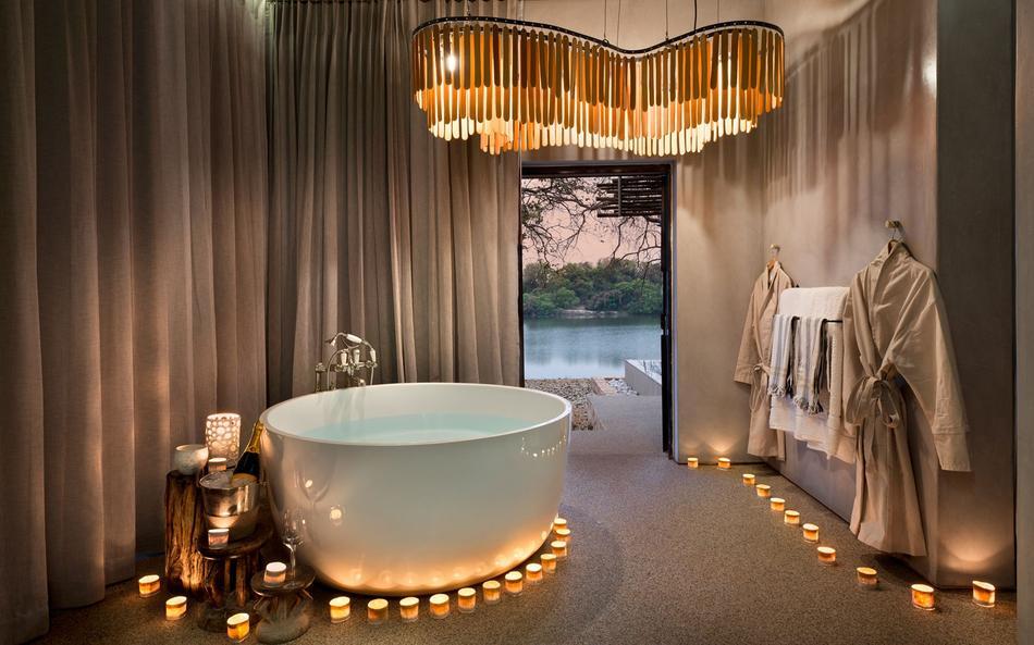 Salle de bain du Matetsi River lodge