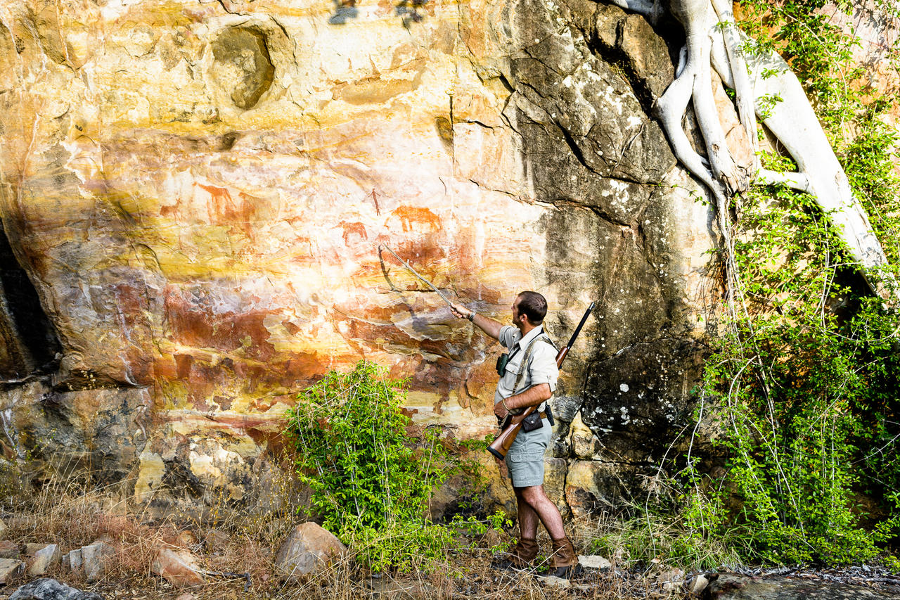 Peintures rupestres à Singita Pamushana