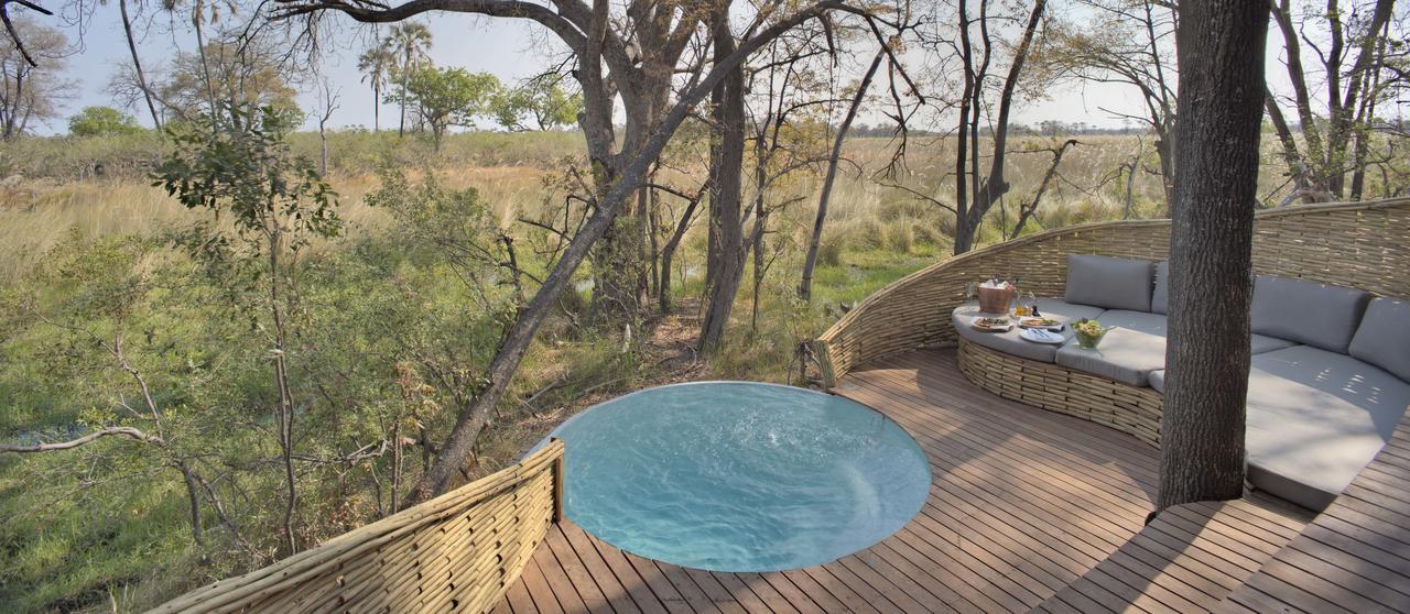 Safari Je Veux du Luxe en Afrique - piscine privée à Sandibe
