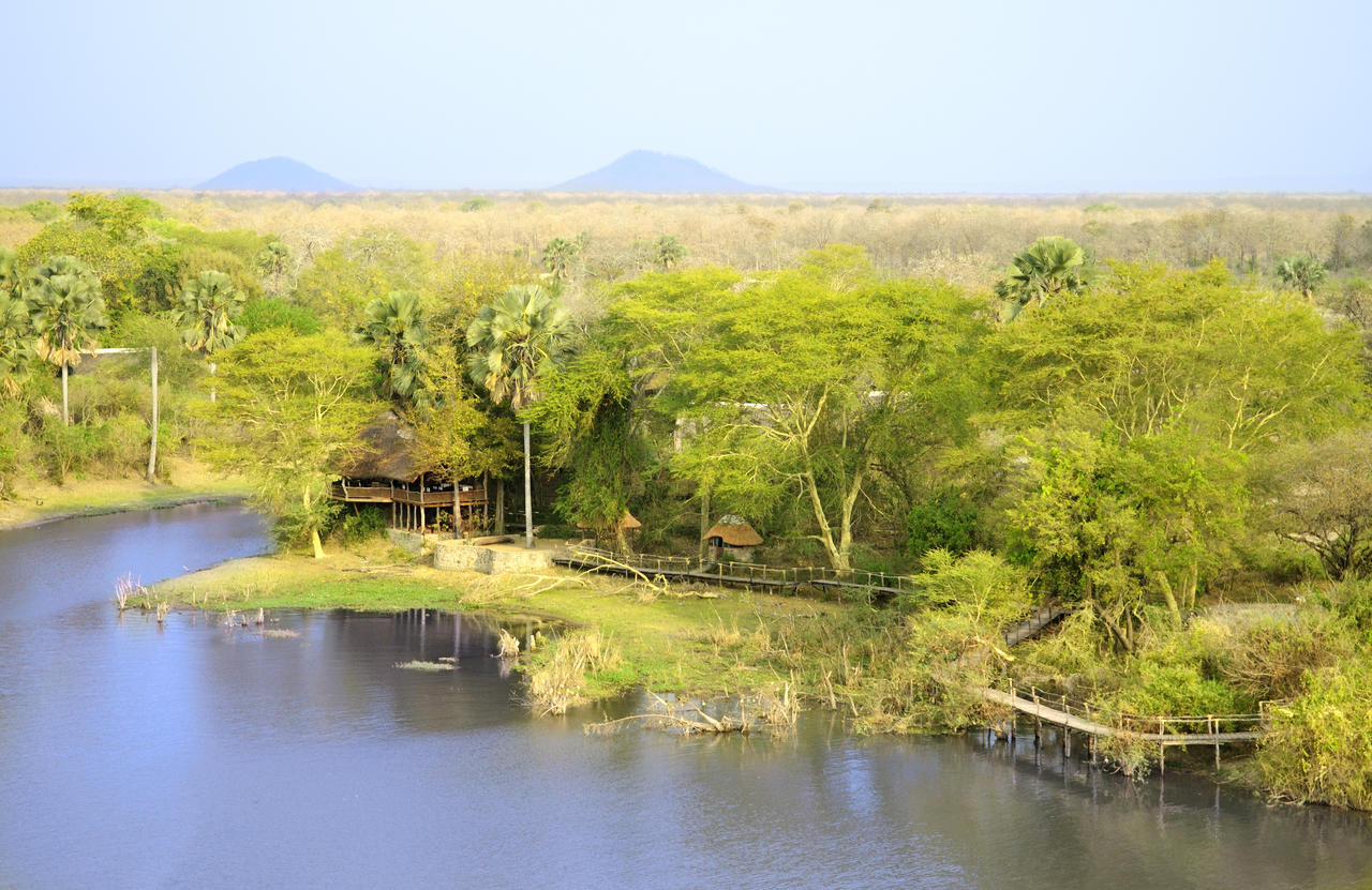 Vue aérienne du Mvuu Wilderness lodge