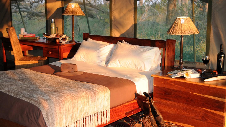 Safari à cheval au Botswana - chambre à Macatoo